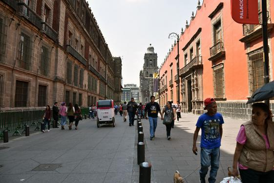 Tour through the streets and the historic center of Mexico